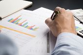stock photo of analysis  - Man Analysis Business and financial report research
