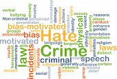 picture of hate  - Background concept wordcloud illustration of hate crime - JPG