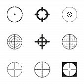 stock photo of crosshair  - Vector crosshair icons set on white background - JPG
