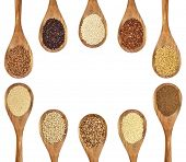 foto of quinoa  - a variety of gluten free grains and seeds  - JPG