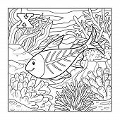 image of letter x  - Coloring book  - JPG