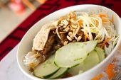 image of rice noodles  - A Bowl Of Grilled Pork  - JPG