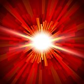 foto of flashing  - Shining a flash of light in the red tunnel - JPG