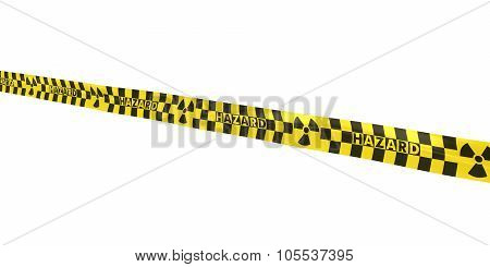 Checkered Nuclear Hazard Tape Line