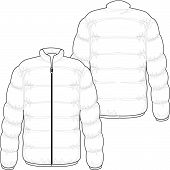 stock photo of bomber jacket  - winter jacket filled with real goose down - JPG