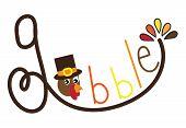 Gobble Turkey poster