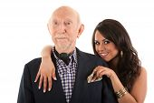 foto of hottie  - Rich elderly man with Hispanic gold - JPG