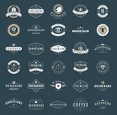 Retro Vintage Logotypes or insignias set poster