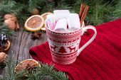 ������, ������: Mug of hot chocolate with marshmallows