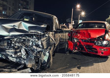 Collision between two