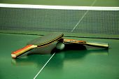 Two Table Tennis Rackets poster