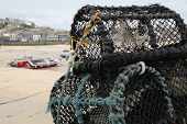 foto of st ives  - Lobster pots on the quay at St - JPG