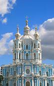 picture of cherubim  - Smolny orthodox cathedral facade  - JPG