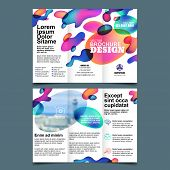 Brochure A4 Trifold, Vector Design Template. Universal Business Leaflet And Design Elements. poster
