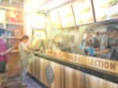 Blurred Image Of People Wait To Order Food And Make Payment In Fastfood Store. poster