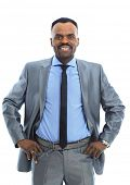 stock photo of afrikaner  - Smiling Afro - JPG