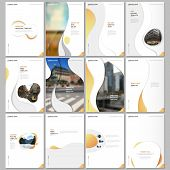 Creative Brochure Templates With Fluid Colorful Trendy Gradients Geometric Shapes. Covers Design Tem poster