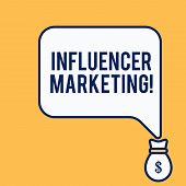 Word Writing Text Influencer Marketing. Business Concept For Endorser Who Influence Potential Target poster