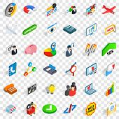 Best Price Icons Set. Isometric Style Of 36 Best Price Vector Icons For Web For Any Design poster