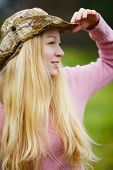 pic of fisherwomen  - beautiful girl with long blond hair looking - JPG