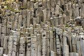 Black Basalt Column Formation In Iceland poster