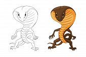 Vector Illustration With A Cobra Humanoid Creature Isolated On White poster