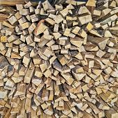 Firewood Ready To Use In Fire. Firewood Warehouse. Firewood Background poster