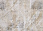 Vintage Grunge Newspaper Paper Texture Background. Blurred Old Crumpled Newspapers Backdrop. A Blur  poster