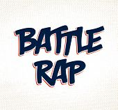 Rap Battle Vector Typing, Music Theme Logo. poster