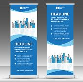 Roll Up Banner Template, Stand Design, Pull Up, Display, Advertisement, Business Flyer, Poster, Pres poster