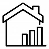 Rising Real Estate Prices Icon. Outline Rising Real Estate Prices Vector Icon For Web Design Isolate poster
