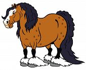 image of clydesdale  - cartoon horse heavy clydesdale breed - JPG