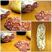 picture of charcuterie  - Several photos assembled to build a boloney image - JPG