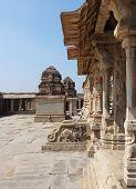 image of vijayanagara  - Krishna Temple at Hemakuta Hill a part of the Sacred Center of Vijayanagara around Hampi a city located in Karnataka South West India - JPG