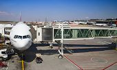 JOHANNESBURG - APRIL 18: Boeing 777 disembarking passengers after intercontinental flights on April