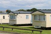 image of trailer park  - Caravan mobile homes in modern trailer park - JPG