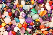 Colorful semiprecious gems