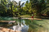 foto of martha  - River Boat and Captain on Martha Brae River in Jamaica - JPG
