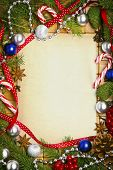 Beautiful blank card for christmas greetings with decoration