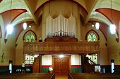 pic of peace-pipe  - picture of church interior - JPG