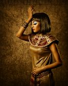 Beautiful Egyptian Woman Bronze Portrait
