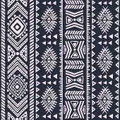 picture of indian blue  - Abstract tribal pattern - JPG