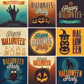 image of zombie  - Halloween Posters set - JPG