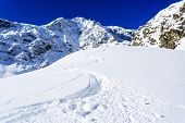 stock photo of italian alps  - Ski - JPG