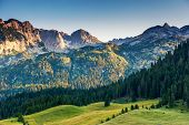 Wonderful view to mountains in the national park Durmitor in Montenegro, Balkans. Europe. Beauty wor