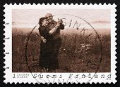 Postage Stamp Finland 1997 Couple Dancing Tango