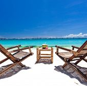 Tropical Relax On White Beach