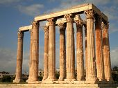 stock photo of olympian  - The ruins of the Temple of Olympian Zeus - JPG
