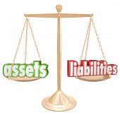 image of asset  - Assets Vs Liabilities Net Worth Gold Scale Financial Value - JPG
