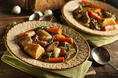 foto of stew  - Homemade Irish Beef Stew with Carrots and Potatoes